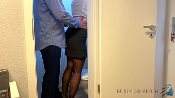 boss meets secretary ponograph on the office restroom - business-bitch