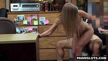 blonde zzzzxxxx sucks cock and gets fucked at the pawn shop