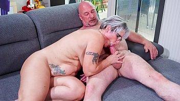 hausfrau www sunnyleonexxxvideo ficken - chubby german granny fucks her husband during mature amateur tape