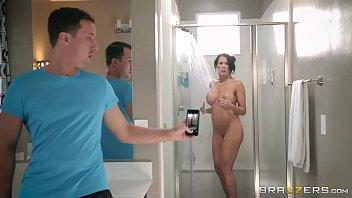 brazzers - step son www xxx com catches reagan foxx in the shower
