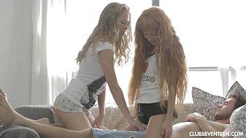 small titted teens cxxxe sharing a lucky guy