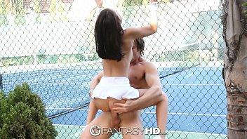 hd fantasyhd - little dillion harper gets fucked on the fucking girl tennis court