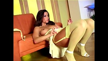 long haired babe stripping indian lady fuking out of her sexy nylons