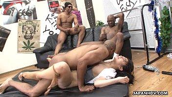three black men destroy the asian naked full body massage sluts pussy