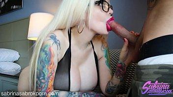 sabrina sabrok showing sexvideo off her huge boobs sloppy deepthroat