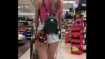 petite babe haley reed flashes tits in grocery store then chaina sex fucks you pov