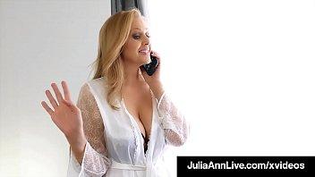step-mom julia ann stuffs her            muff with step-son s cock