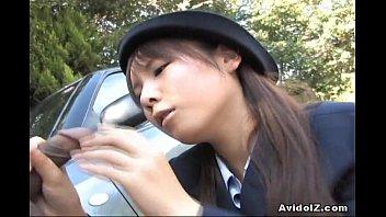 muslim pornstar japanese momo aizawa gives an outdoor blowjob