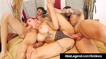 x xxx inked milf anna bell peaks wrecked by alex legend and bro