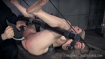sexigiral sweet blonde begs for pain in bondage
