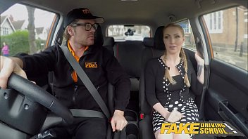 fake driving school busty blonde georgie lyall gets violent sex videos customer satisfaction