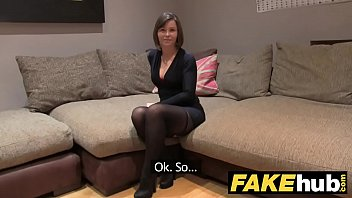 fake agent uk randy watching porn with mom brunette takes a big facial after hard fuck