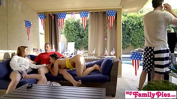 july 4th threesome with teen sexe live step daughter and hot bff s3 e3