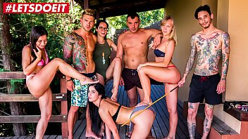 letsdoeit - hot pornstars have a kinky bondage pool fuckig party francys belle valentina bianco loren minardi