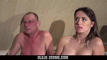 2 virgins jump on grandpa cock and japanes sex vedio fucks his brains out in threesome sex