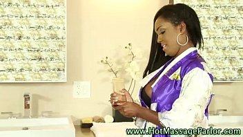 only18 com busty black masseuse lick