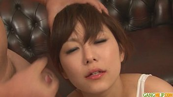 guys line up for an 50 year old naked women asian girls blowjob from miku