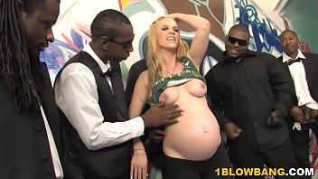 pregnant uporn hydii may bbc interracial gangbang