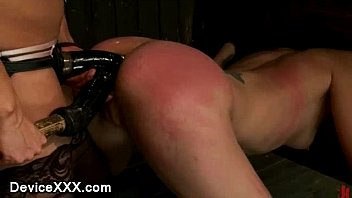locked in wooden stocks babe ass x xxvideo caned and strapon dildo fucked