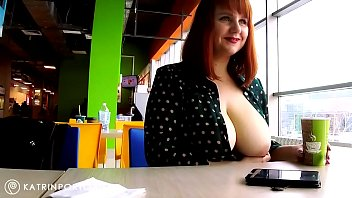 katrin porto - sexgirls flashing big tits and hairy pussy in the mall
