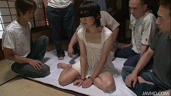 surrouned by horny cocks aoba has all her holes xxhx filled with cocks
