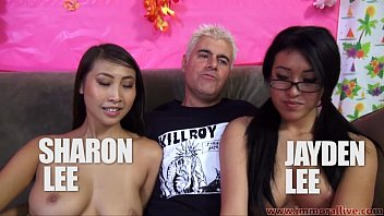 jayden lee and sharon sunnysex lee compete in cock sucking challenge