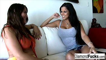 diamond and heather yuliett torres xxx silk get together for some hot girl on girl action