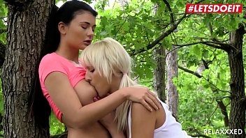 letsdoeit - katy rose lucy li - czech lesbian man woman hot sex couple makes love right in the woods