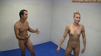 nice boobs naked domination wrestling