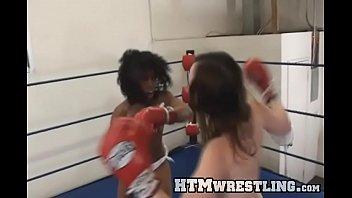 boxing bitches xxxvdo topless black vs white