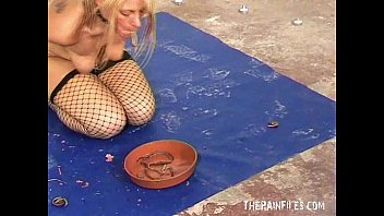 gross indian kasak worms in mouth humiliation of bizarre blonde slaveslut crystel lei