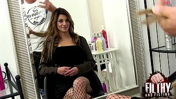 pussy fisting at xxxc the hairdresser