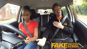 fake driving rosie huntington whiteley nude school ebony learner with big tits is worst driver yet