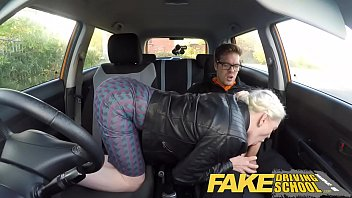 fake driving school big tits hairy pussy england sex vedio student has creampie and squirts