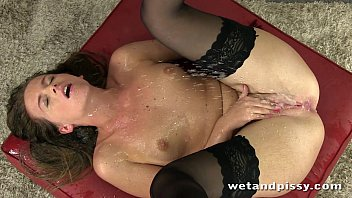gorgeous self old people fucking pee from stocking wearing brunette